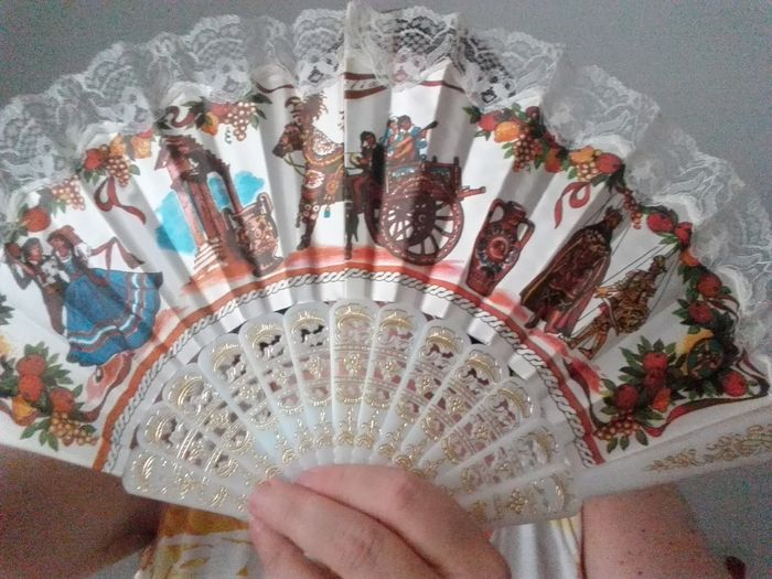it is hot Summer Eyem Gallery Typical Sicily Ventaglio Fan EyeEmNewHere Folding Fan Summer Hotsummer Breath High Angle View Table Art And Craft Close-up Craft Art Decorative Art ArtWork Colorful