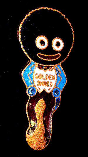 Vintage Badge Black Background Golden Shread Illuminated Marmalade Man Night No People Outdoors Robinsons Old Logo Vintage Badge