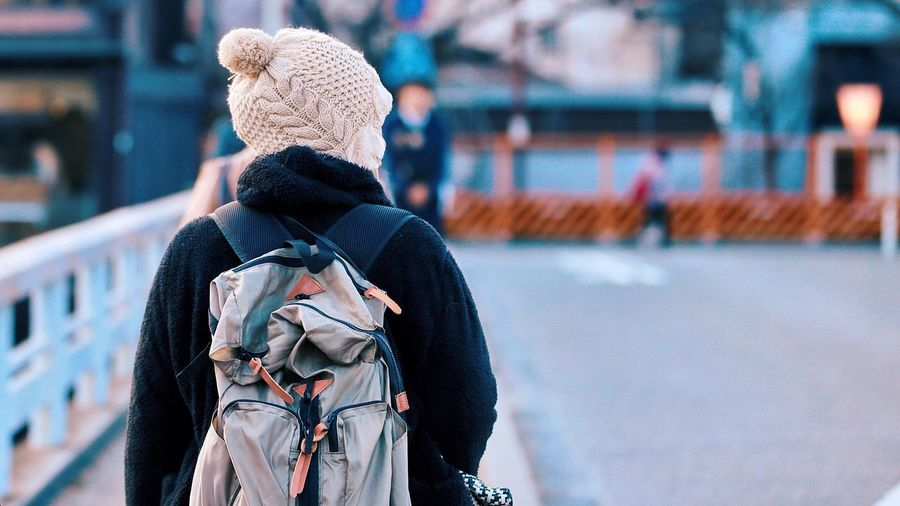 EyeEm Selects Clothing Focus On Foreground Day Hat One Person Real People Architecture Art And Craft Human Representation Leisure Activity Warm Clothing Outdoors Rear View Representation Knit Hat Winter Lifestyles Toy Waist Up
