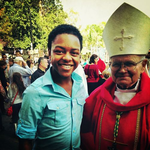 Me and the former archbishop
