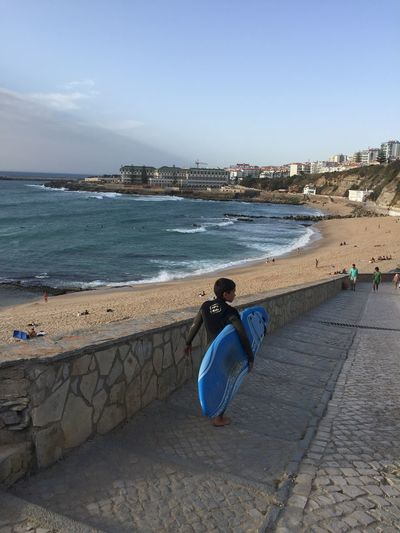 Ericeira Adult Adults Only Architecture Beach Beauty In Nature Building Exterior Built Structure City Day Ericiera Full Length Lifestyles Men Nature One Person Outdoors People Portrait Real People Rear View Retaining Wall Sea Sky Water