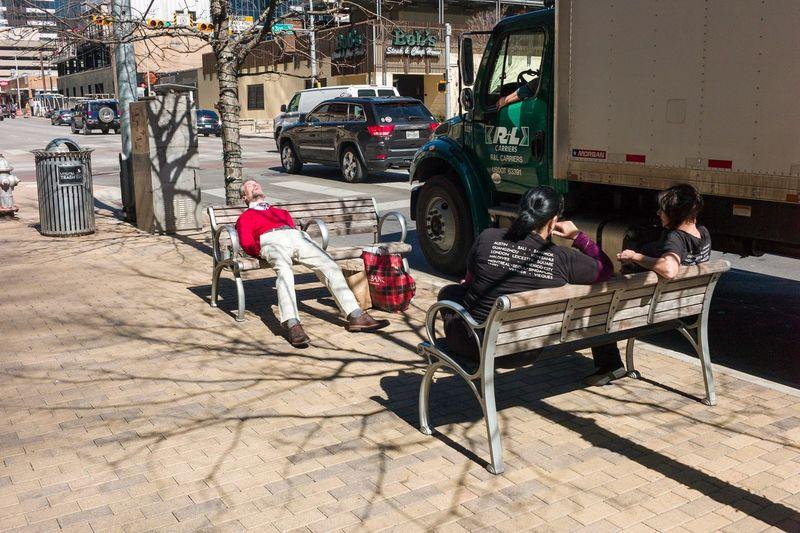 Austin Texas Candid Downtown Austin M Public Sleeping Streetphotography Sun Bathing