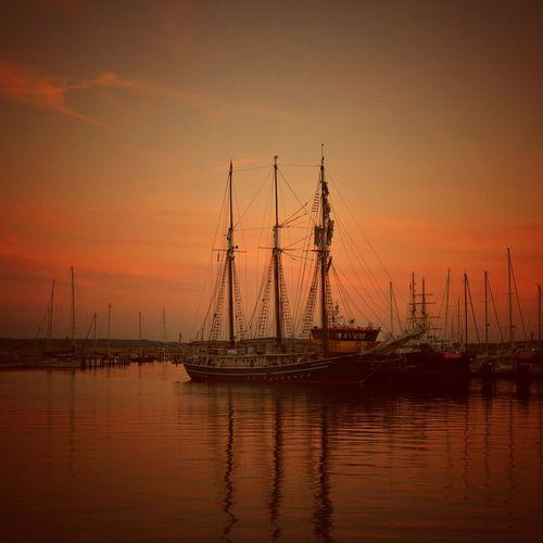 Sailboats in sea