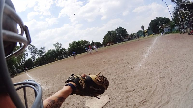 Sunny Sunday Baseball Game Tattoo Pitcher Catcher Sport In The City