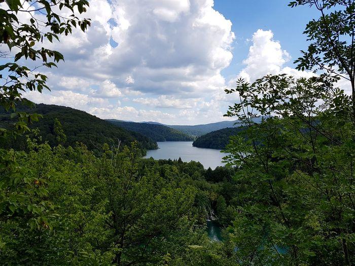 Plitwitzer Seen Croatia Hrvatska Tree Water Lake Sky Cloud - Sky Landscape Green Color Mountain Range