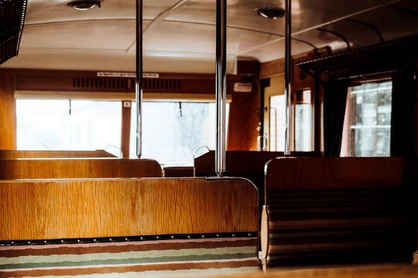 Short Trip Absence Ceiling Chair Day Empty Furniture Glass - Material Indoors  Mode Of Transport Mode Of Transportation No People Old Train Public Transportation Rail Transportation Seat Table Train Transparent Transportation Vehicle Interior Vehicle Seat Warm Warm Colors Window Wood - Material The Architect - 2018 EyeEm Awards