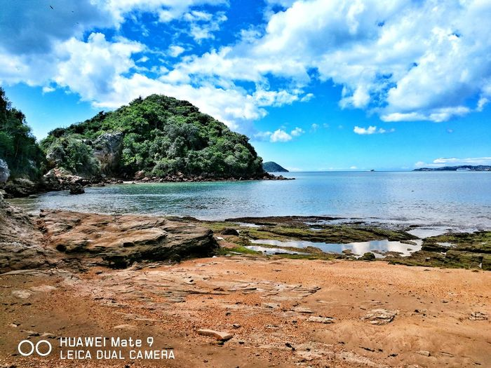 Ponta do Pai Vitório. Beach Sand Sea Cloud - Sky Beauty In Nature Huaweiphotography Takenwithhuawei Huawei Mate 9 Tadaacommunity Photooftheday Eye4photography
