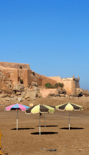 Ciel Bleu Ciel Clair Historical Monuments Parasol Plage Sable Sol