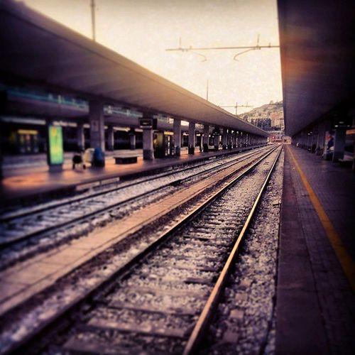 Trieste Railway Sunset Trst Italy waitin Italija