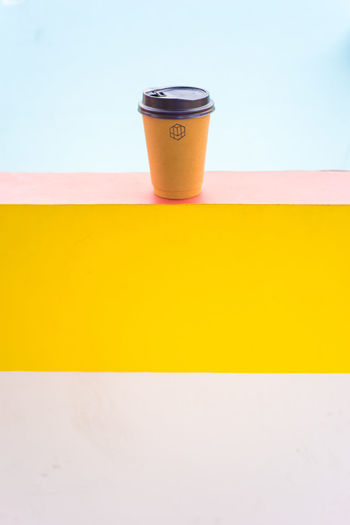 Beverage Close-up Coffee Cup Drink Food And Drink Freshness No People Non-alcoholic Beverage Refreshment Single Object Still Life Studio Shot Table Yellow The Color Of Business Beautiful Organized