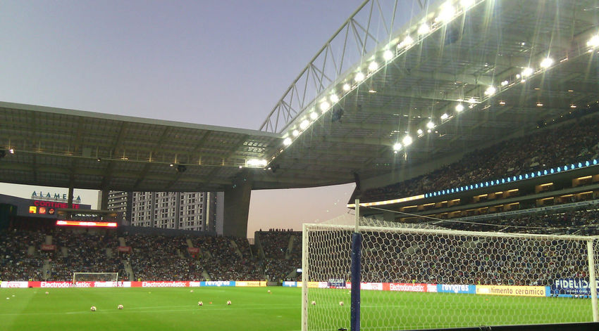 Stadium Sport Grass Soccer Lighting Equipment Bleachers International Team Soccer Floodlit Soccer Field No People Outdoors Day Porto Fc Porto Estadio Do Dragao Portugal UEFA Uefachampionsleague