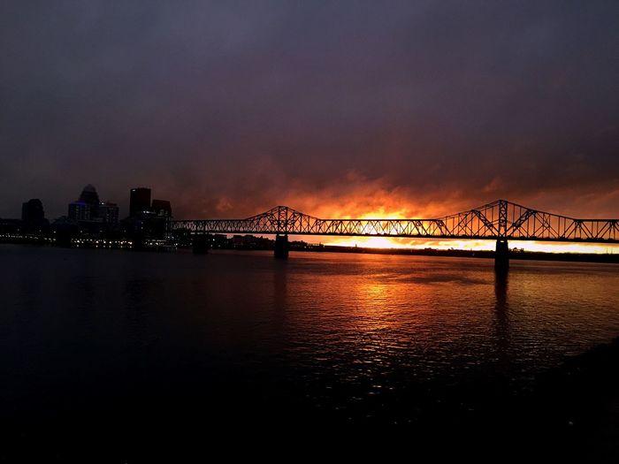 Sunset Sunset_collection Sunsets Bridge Bridges Sun Cityscapes Cityscape City View  Louisville