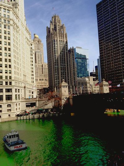 Downtown Chicago Chicago River St Paddys Day Dying River Green Green River Chicago