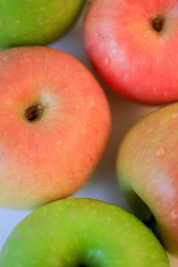 Apple Close-up Freshness Fruit Green Healthy Eating Organic Red Still Life Art Colour Of Life Beautifully Organized