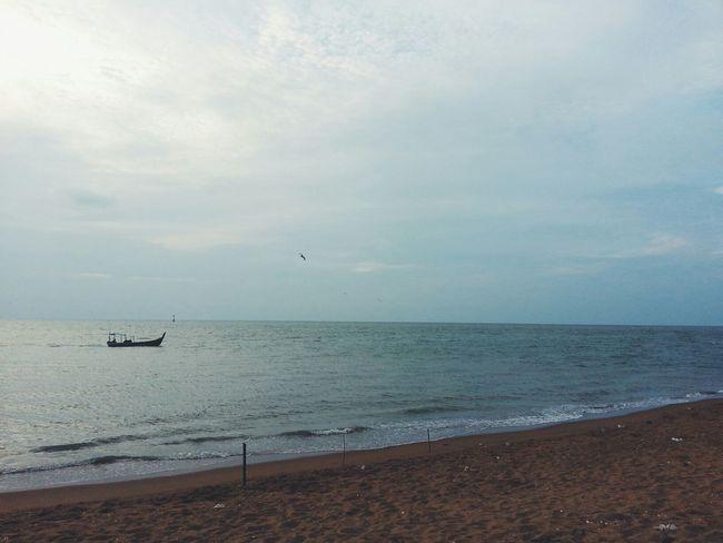 Relaxing Enjoying The Sun Sea Beach