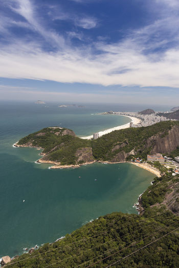 Rio view from above Brazil Travel Travel Destinations South America Vacation Latin Beautiful Destination Rio Rio De Janeiro View View From Above Copacabana Ipanema Beach Blue Sky Backgrounds Clouds Ocean Sightseeing Attraction Sugar Loaf Paradise Big City