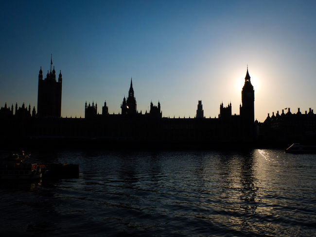 House of Parliament at sunset, London London Postcode Postcards Skyline Thames Westminster Architecture City Clock Tower England River Silhouette Sunset Tower Uk