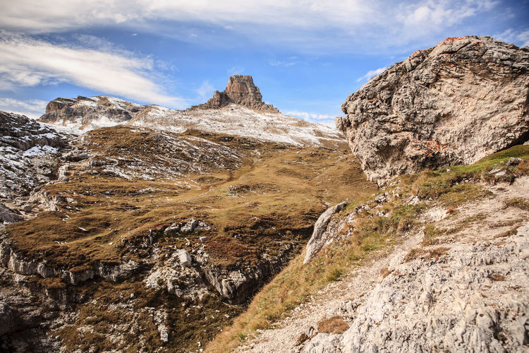 Dolomite Alps, Italy, Europe, Drei Zinnen area at Fall Adriatic, Dolomite, Drei Zinnen, Italy, Adventure, Alps, Area, Coast, Dolmatien, Europe, European, Fall, Hiking, Landscape, Mountains, Nature, Outdoors, Rocks, Sea, Sky, Summer, Sunlight Mountain Scenics - Nature Beauty In Nature Environment Sky Cloud - Sky Landscape Rock Non-urban Scene Mountain Range Tranquility Tranquil Scene Day Nature No People Rock - Object Rock Formation Geology Solid Outdoors Formation Mountain Peak Arid Climate