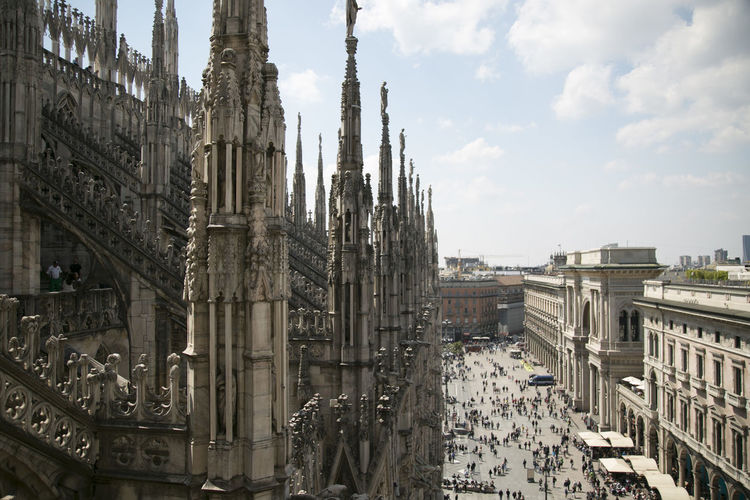 View from the Duo9mo of Milan Architecture Building Exterior Built Structure Day Duomo Duomo Di Milano No People Outdoor Outdoor Photography Outdoors Sky View View From The Top Neighborhood Map