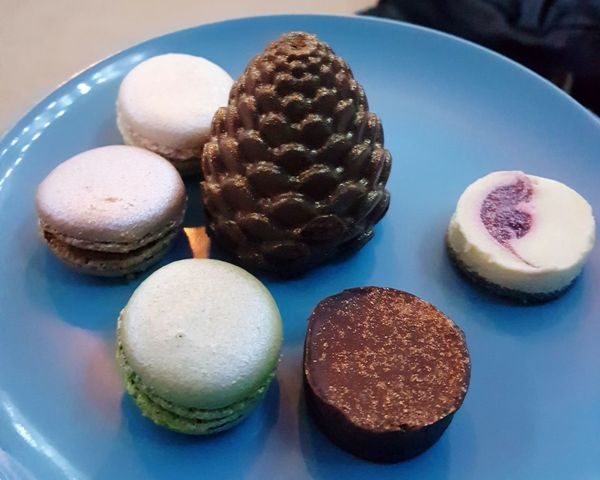 Food And Drink Food Sweet Food Dessert Indulgence Indoors  Blue Ready-to-eat Plate