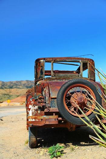 Route 66 arizona / usa - oldtimer on route 66 in arizona