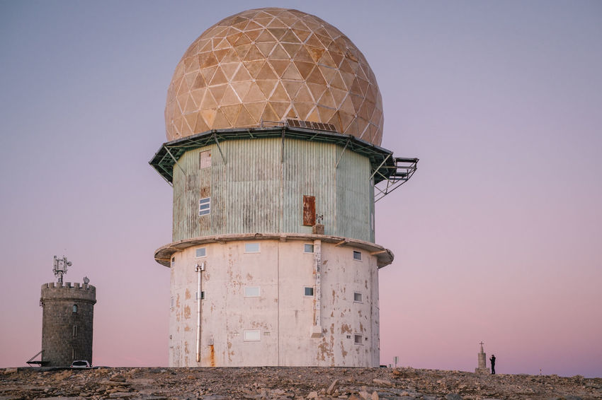 Architecture Clear Sky Day Dome Lighthouse Manteigas Nature No People Outdoors Sky Storage Tank Tower Water Tower - Storage Tank
