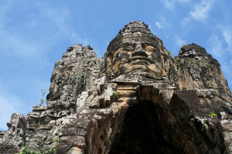 angkor wat siem reap cambodia Siem Reap Cambodia Angkor Wat AngkorWatTemple Travel Destinations Statue Outdoors Vacations Cultures Cloud - Sky Tourism Religion