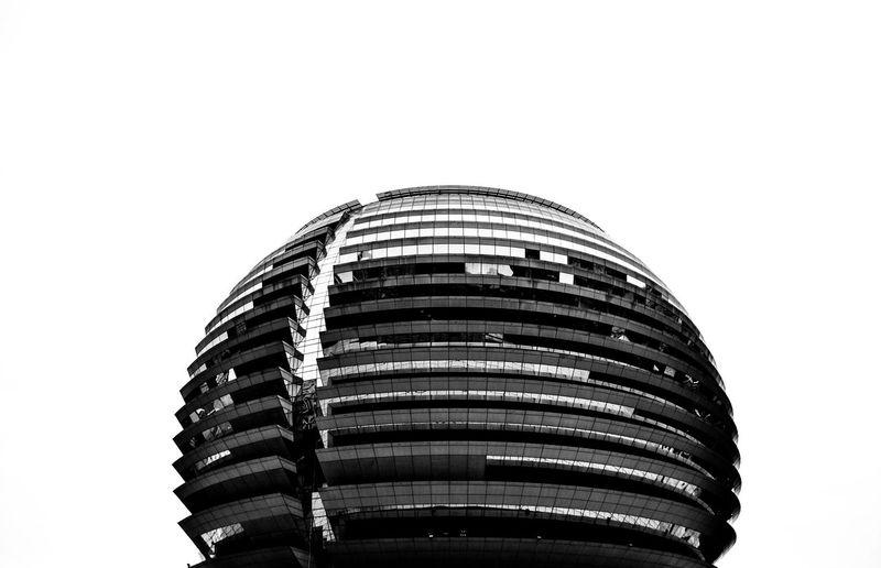 The golden globe. Architecture Building Exterior No People Modern Futuristic Hangzou China