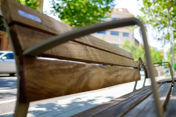 Bench Built Structure Focus On Foreground Nature Place To Sit Relax Selective Focus Surface Level Wood - Material