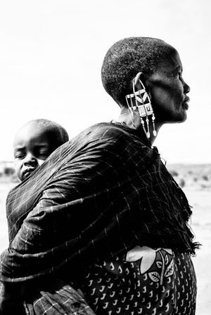 Maasai mother. Leica Mother Two People Child Family Childhood Lifestyles