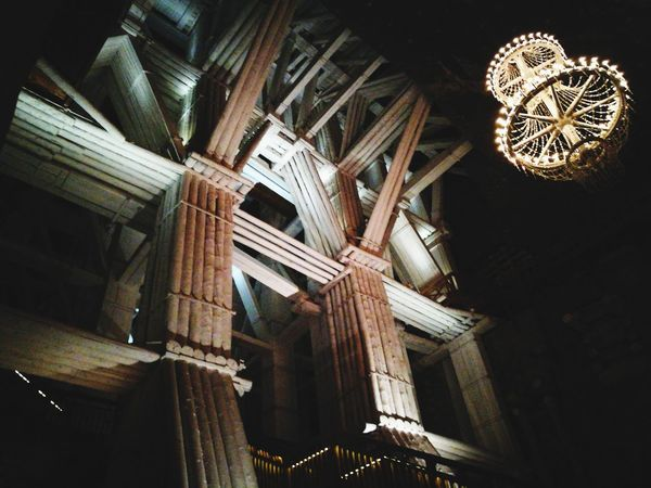 Architecture Low Angle View Arts Culture And Entertainment Built Structure Indoors  Illuminated Night No People Wieliczka Salt Mine Wieliczka EyeEmNewHere