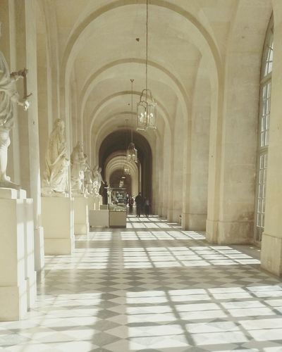 MAJESTIC CORRIDOR IN VERSAILLES PALACE
