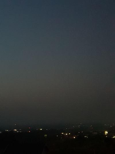 night view Astronomy City Illuminated Sky Star Field