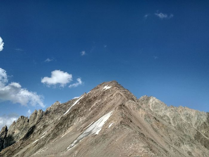 Mountain Peak Mountain EyeEm Selects Pyramid Blue Mountain Desert Sky Landscape Cloud - Sky Rocky Mountains