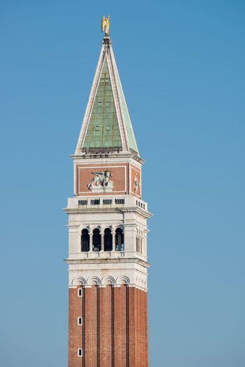 The Bell Tower of San Marco, in Venice Holidays In Italy Venice, Italy Architecture Building Exterior Clear Sky Religion San Marco Bell Tower San Marco Venezia Sky Tourism Tourism Destination Vertical
