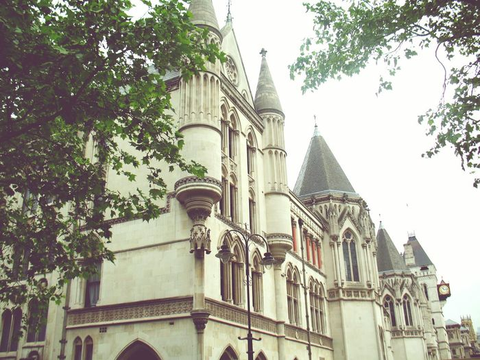 Justice Ministry Of Justice Architecture Travel Destinations Built Structure City Building Exterior Tree Outdoors Sky Place Of Worship Day No People LONDON❤ England London History Fleet Street City Life City Street Architecture Street Scenics Church Low Angle View