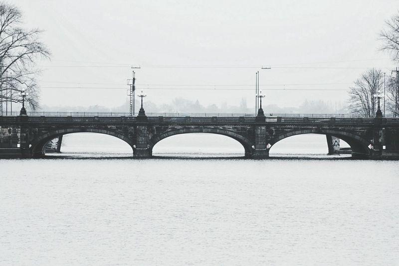 Envision The Future Bridge Natural Dark Photography Winter Silent