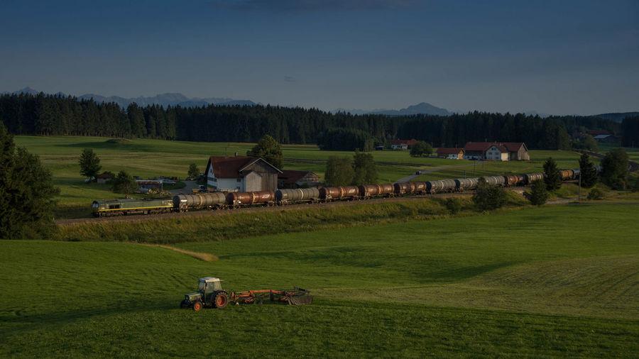 Abendstimmung Bayern Class 66 Deutschland Eisenbahn Görwangs Railway Tankzug