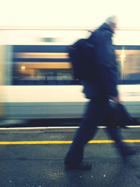 Catching a train. Streetphotography Commuting Train Station Kent Vignette For Android