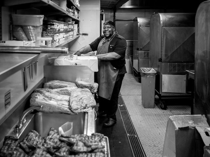 Ladies and Gentlemen, today we have got something very special! American BBQ, American pitmaster in his element, big easy group executive pitmaster… behind the scenes… See his full story here http://maxgor.com/photojournalism/pitmaster-orelle/#more-4520 Commercial Kitchen Food Food And Drink Industry Occupation Kitchen Preparing Food Working Chef Real People Maxgor Rawstreets Londoninfaces 35mm Pitmaster Behind The Scenes