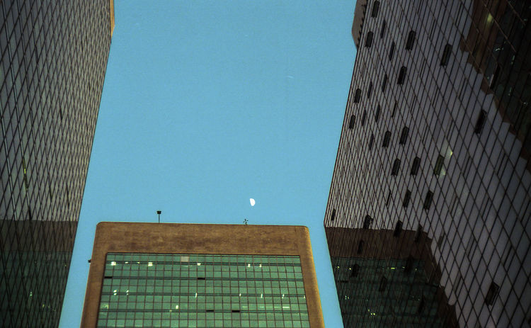 Analog 35mm Colors Filmisnotdead Moon Sky Modern Sky Architecture Building Exterior Built Structure