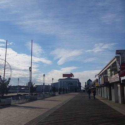 Absolutely beautiful day to be walking the boards.... Oceancitycool OceanCity Maryland Ocmd Boardwalk