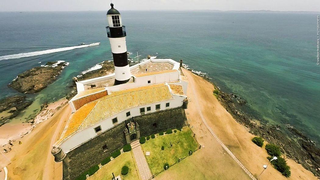 Farol da Barra - Bahia - Brazil Lighthouse Salvador Brazil Bahia Faroldabarra Farol Da Barra Brasil Aerial Shot Aerial View Beach