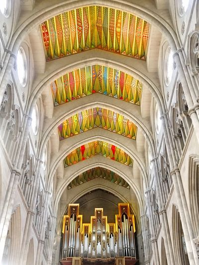 The Traveler - 2018 EyeEm Awards Live for the Story Travel Destinations Enjoying Life Church Taking Photos Architecture Built Structure Religion Arch Place Of Worship Indoors  Belief Ceiling Spirituality Travel Destinations Architectural Column Architecture And Art Stained Glass