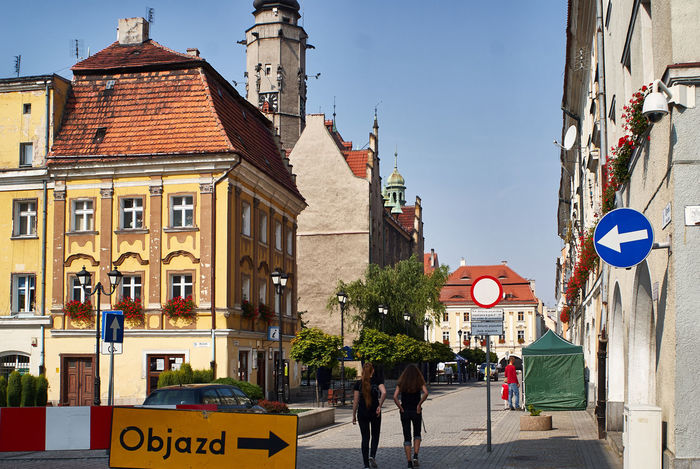 Jawor Architecture Building Exterior City City Life City Street Day Jaworzno Outdoors People Poland Road Sign Travel Destinations