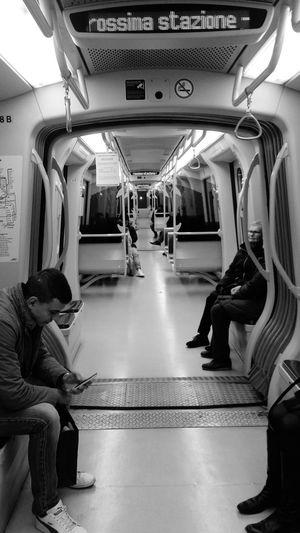 Prossima Stazione Metro Metropolitana Milano Milan,Italy Blackandwhite Photography Blackandwhite Biancoenero Bwnitalian Bnw_collection Bnw_zone Bnwlife
