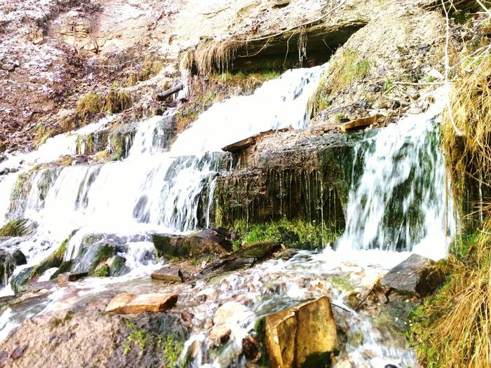 waterfalling Water Waterfall Nature Outdoors Scenics Beauty In Nature Motion River Rock - Object No People Day