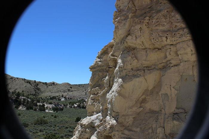 Castle Gardens near Tensleep, Wyoming. Wyoming Landscape Rock Formation Wyoming Erosion Effects Distant Background Sagebrush