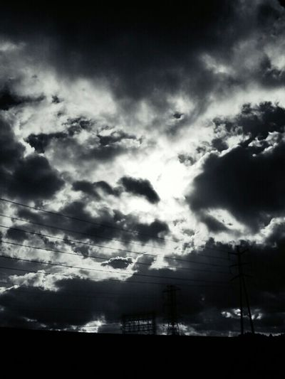 Clouds Sky Black And White