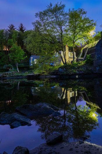 Scotland Aberdeen Night Nightphotography No Filter Water Reflection Water Reflections Bridge Of Don